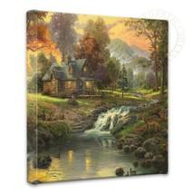 Thomas Kinkade Mountain Retreat 14 x 14 Gallery Wrapped Canvas - $89.00