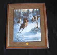 """Framed Chuck DeHaan Franklin Mint Print """"Mustang Thunder"""" & COA - $180.00"""