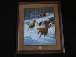 """Framed Chuck DeHaan Franklin Mint Print """"Mustang Lightning"""" & COA - $90.00"""