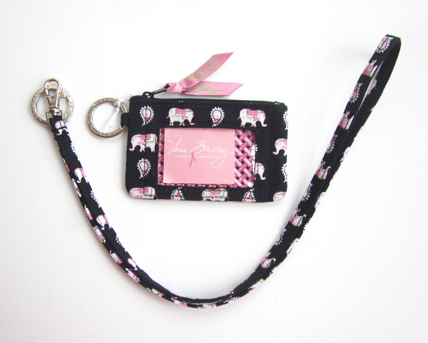 Vera Bradley Zip ID Case and Lanyard in Pink and 50 similar items