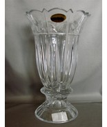 "Czechoslovakian Crystal 10"" Tall Taper HOlder w/Candle by Block - $26.00"