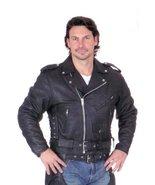 Men's AL2001 Basic M.C. jacket 58 Black - $98.99