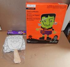 "Halloween Foam Activity Kit & Paper Stick Puppets Creatology4+10""x8"" Mon... - $12.89"