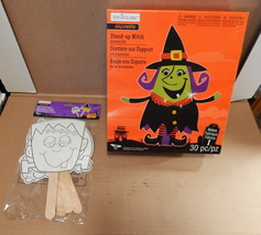"Halloween Foam Activity Kit & Paper Stick Puppets 4+10 ""x 9"" Stand Up Wi... - $12.89"