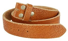 Mens Full Grain Genuine Cowhide Leather Belt Strap Hand-Crafted In USA (Tan,44) - $39.11