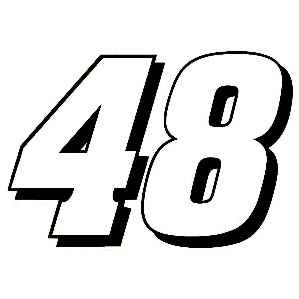 "Primary image for 4"" Jimmie Johnson Number 48 Window Decal Vinyl Sticker Hendrick Motorsports"