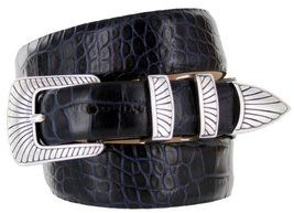Nevada Men's Designer Genuine Italian Calfskin Leather Dress Belt (40, Alliga... - $29.20