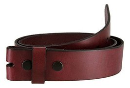 Burgundy Work Jean Casual Genuine Leather Belt Strap (36) - $15.79