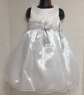 Swea' Pea & Lily Formal White Dress NWT Sz 2 Wedding Flower Girl Easter Pearls