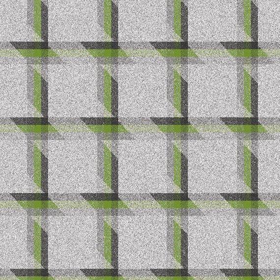 Camira Upholstery Fabric Contemporary Plaid Wool Green LDB02 .875 yds CW