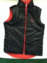 Puma Reversible Vest Sz Sm Black & Orange - $31.88