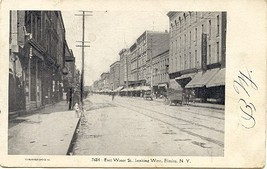 Horse and Wagons at East Water Street Elmira New York 1906  Post Card - $5.00