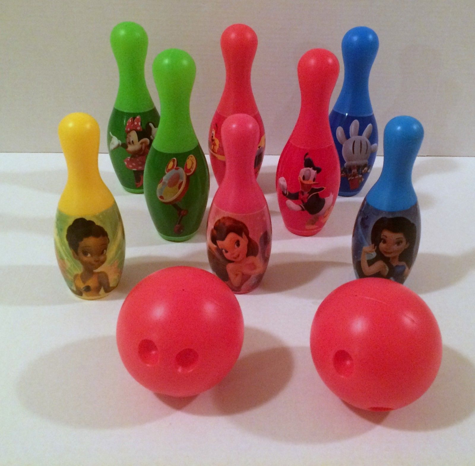 Disney Mickey Mouse Clubhouse Bowling Set with Few Princess Pins and 2 Balls