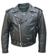 Men's AL2001 Basic M.C. jacket 44 Black - $85.18