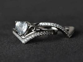 2Ct Heart Shape VVS1/D Diamond Bridal Women's Ring Set 14K White Gold Fi... - $143.10