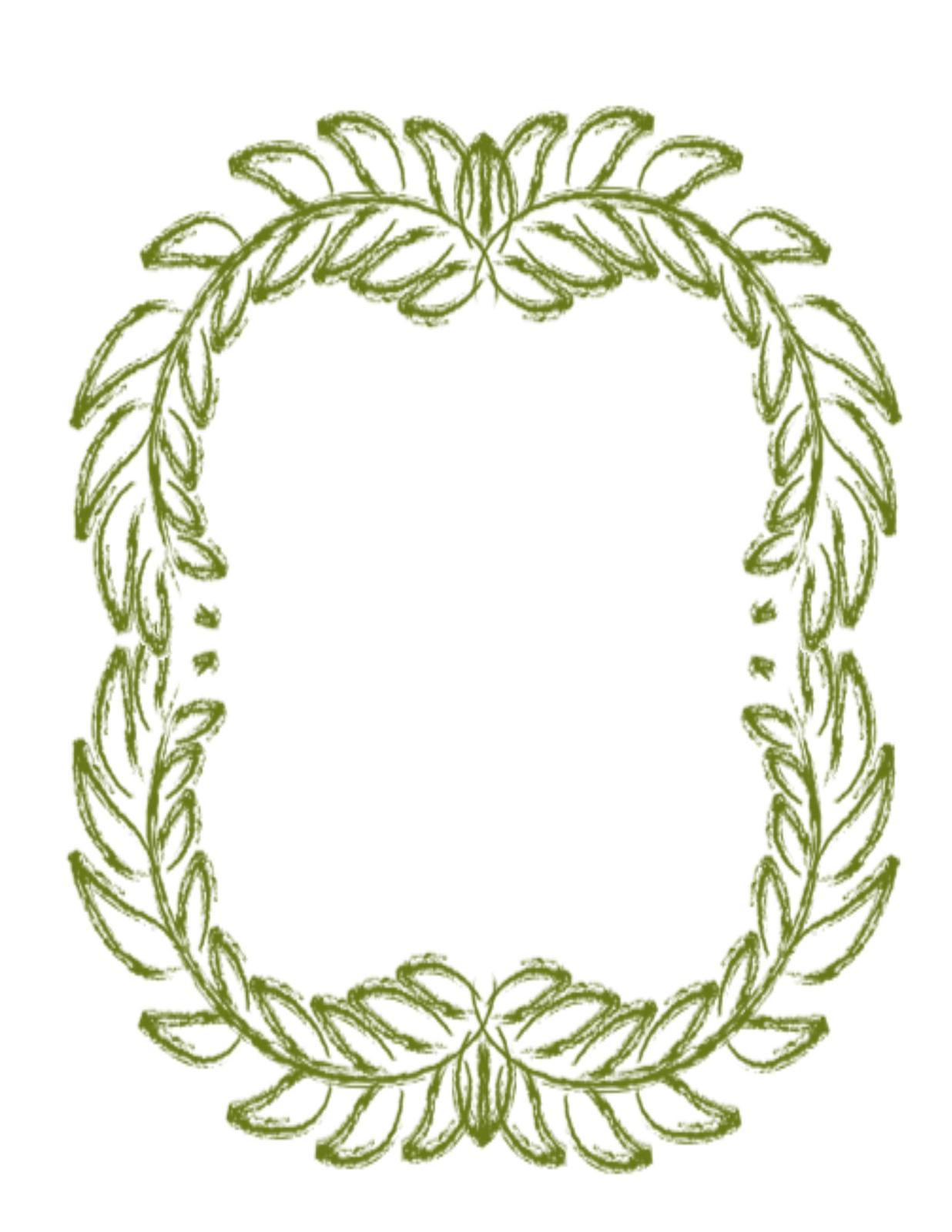 Green floral flower wreath