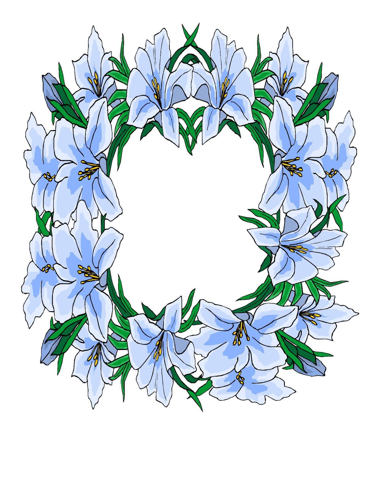 Blue floral flower