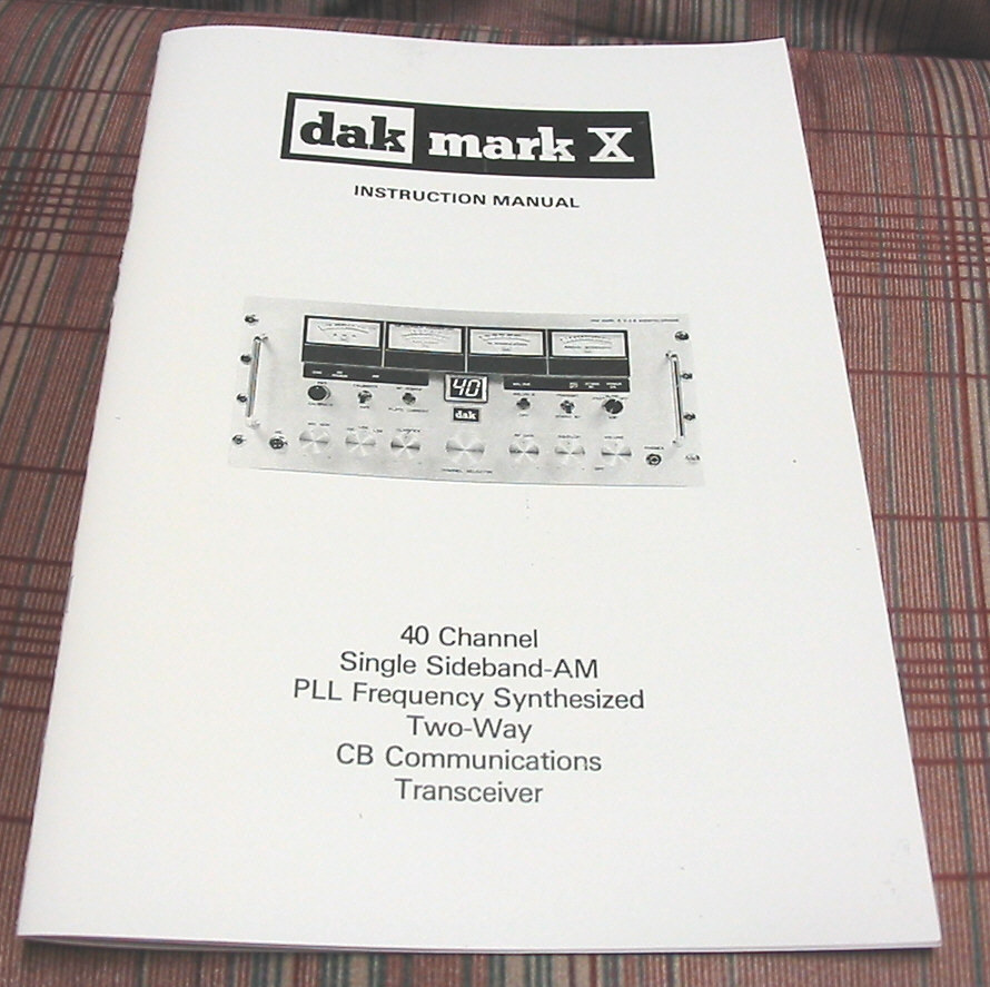 dak mark x service manual