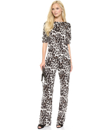 Diane von Furstenberg Cynthia Leopard Jumpsuit size 6 - $329.99