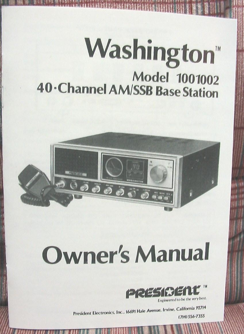 President Washington 40 Channel AM/SSB CB and 50 similar items