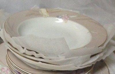 Mikasa Charisma Beige Discontinued HTF Fine China Salad Bowls Three Pieces
