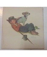 Norman Rockwell Poster Print Boy and His Dog Arthur Kaplan Artwork Repro... - $11.99