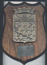 Lann-Bihoue French Navy Aereonavale Base Presentation Oak Brass Shield P... - $35.00