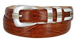 Mens Gold Norris Genuine Italian Calfskin Leather Designer Dress Golf Belt(Li... - $31.19