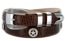 Golf Silver Star - Men's Italian Calfskin Designer Dress Belt with Western Co... - $39.55