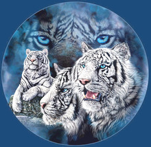 White Snow Tigers Cross Stitch Pattern***LOOK*** - $4.95