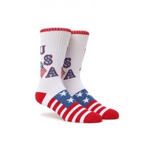 "MEN'S GUYS ON THE BYAS SOCKS ""NEW"" U-S-A USA FLAG CREW MULTI COLORED NEW... - $8.50"