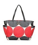 Kate Spade Deborah Dot Small Coal Baby Bag in Red/Black - $359.00