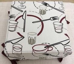 Bread Server Utensils Design Lined Fabric Rever... - $9.00