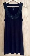 INC INTERNATIONAL  EMBELLISHED SCOOP NECK SLEEVELESS BOHO DRESS SIZE LARGE - $24.70