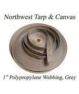 """Polypro Webbing, 1"""" Grey 100 Yard Roll - Shipped from The USA! - $36.27"""