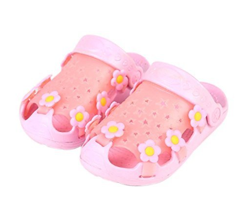 Kids Sandals In/Outdoor Toddler Clogs Shoes/Pink Floret 15CM Length