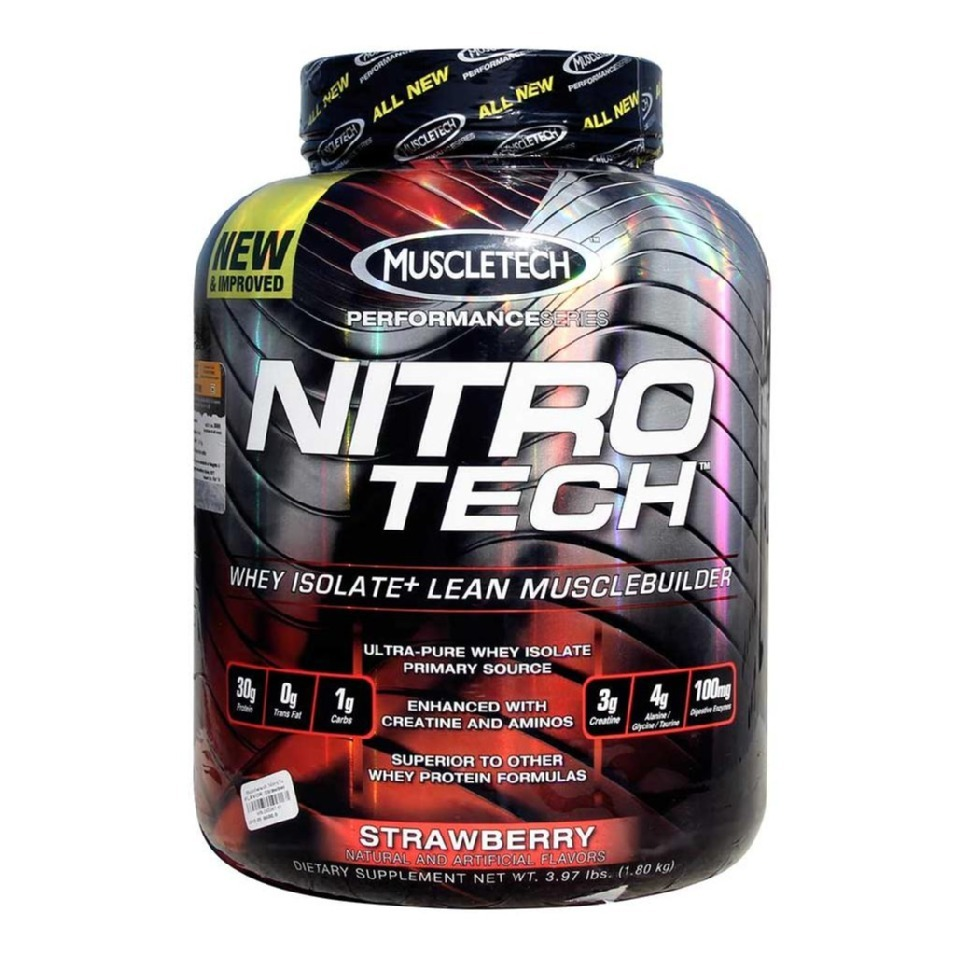 MuscleTech NitroTech Performance Series, 3.97 lb Strawberry