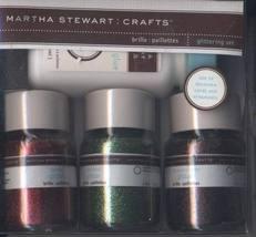 Martha Stewart Crafts Glittering Set-NIP Christmas Winter - $15.00