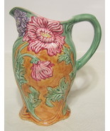 Andrea by Sadek Pottery Pitcher Ornate Hand Painted AS IS - $66.82