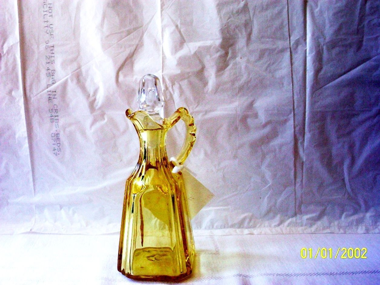 Primary image for Fostoria Mayfair Yellow Cruet