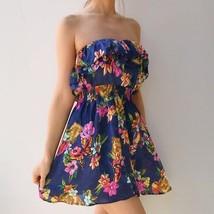 Springtime Floral Strapless Dress Size M Forever 21 - $11.99