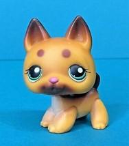 Littlest Pet Shop Puppy Dog German Shepherd Brown Spots #357 LPS Authentic - $114,12 MXN