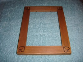 Frame With Etched Heart In Each Corners For Cross Stitch Or Craft Project - $11.99