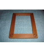 Frame With Etched Heart In Each Corners For Cross Stitch Or Craft Project - $14.49