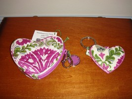 Vera Bradley Julep Tulip Sweetheart Coin Purse And Heart Keychain - $36.99