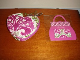 Vera Bradley Julep Tulip Sweetheart Coin Purse And Colorful Hair Pins - $30.99