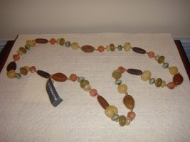Liz Claiborne Beaded Earthtone Necklace - $19.99