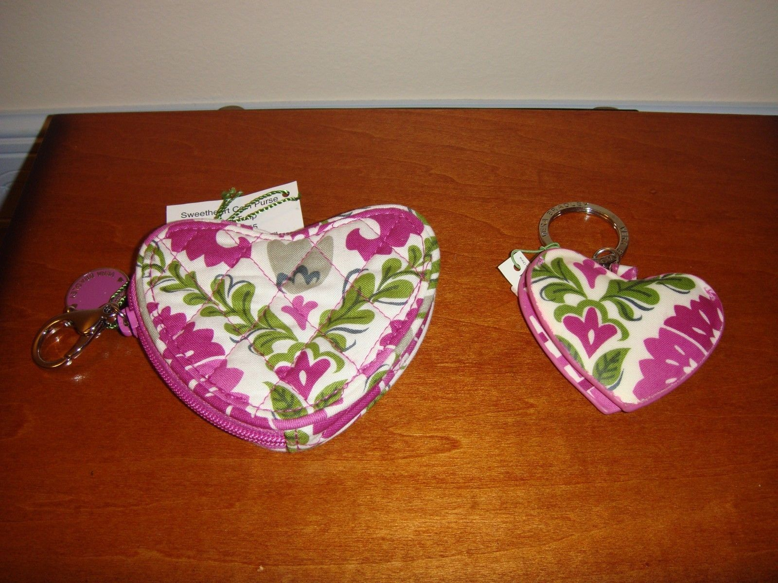 Vera Bradley Julep Tulip Sweetheart Coin Purse And Heart Keychain