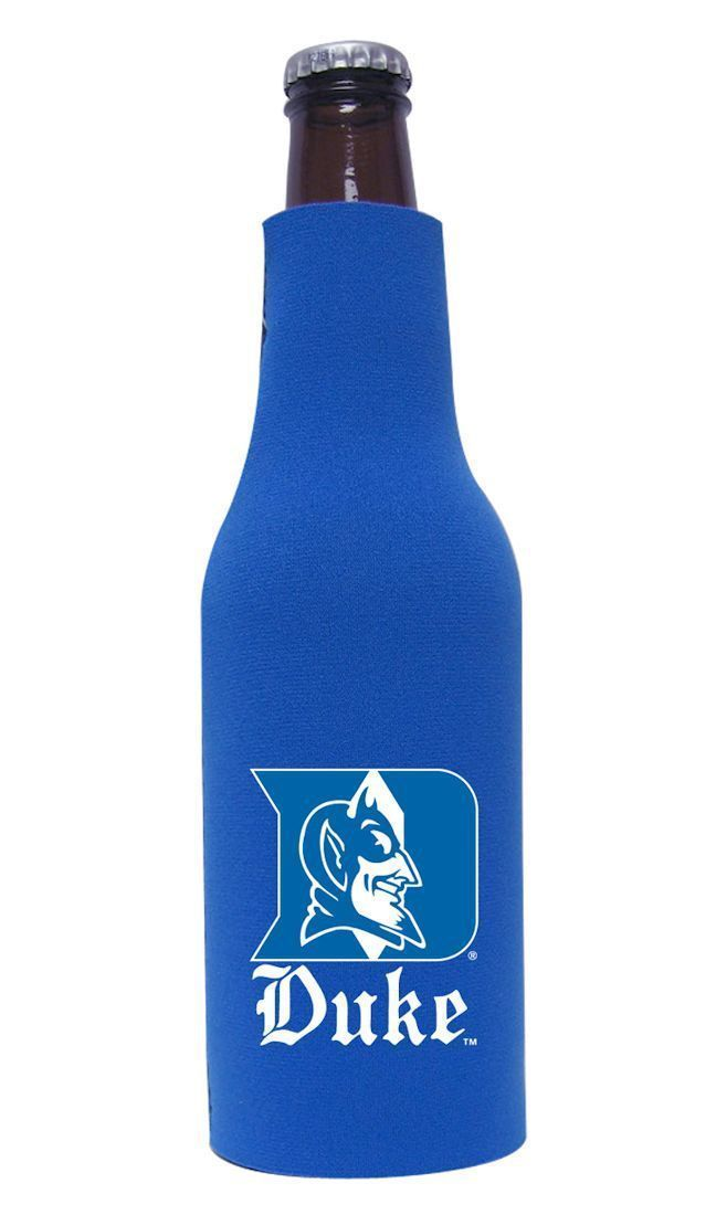 DUKE BLUE DEVILS BEER SODA WATER BOTTLE ZIPPER KOOZIE COOLIE HOLDER NCAA