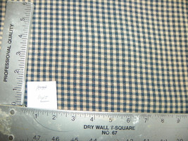 Blue White Check Print Fabric / Upholstery Fabric  1 Yard  R39 - $29.95